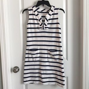 Kate Spade XS striped dress navy white pockets💕